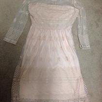 Forever 21 Size M Blush Cream Lace Midi Dress Photo
