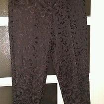 Forever 21 Size S Black Pants Black on Black Print Girls Photo