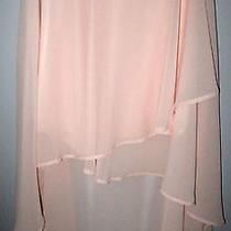 Forever 21 Skirt Size M Blush Pink Lined High/low Asymmetrical Hem Euc Photo