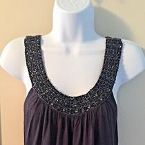 Forever 21 Sleeveless Dress With Beaded Collar Size Medium Mini Length Photo