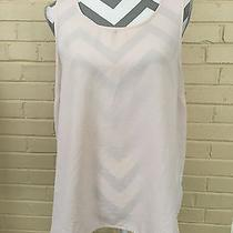Forever 21 Slightly Sheer Blush Colored Tank Blouse Size Juniors Xl - Small Spot Photo
