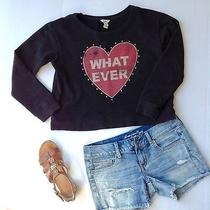 Forever 21 Small Sweater Heart Crop Top Photo