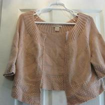 Forever 21 Soft Pink Blush Open Cardigan Sweater Sz Large Photo