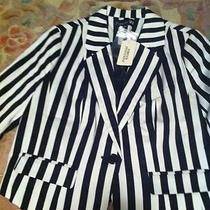 Forever 21 Striped Blazer Jacket Like Rhianna h&m Style Photo