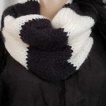 Forever 21 Stripped Infinity Black and White Scarf  Photo