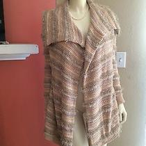 Forever 21 Sweater Cardigan Natural/blush/blue Xs Photo