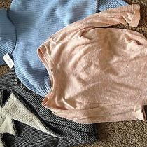 Forever 21 Sweaters and Coat Size S. Blush Pink Baby Blue Black and White. Photo