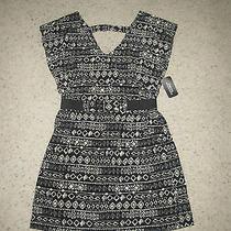 Forever 21 Tribal Black White Dress Small Photo