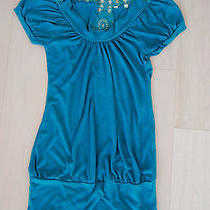 Forever 21 Turquoise Crochet Top - Made Well - Small Photo