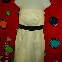 Forever 21 White Black Strapless Dress M 6 Photo