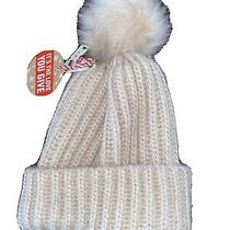 Forever 21 Winter Hat Womens Pink Brand New Tags Warm Knit Poof Beanie Blush Photo