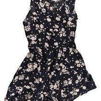 Forever 21 Women's Black/blush Floral Sleeveless Buttoned Romper Size S Photo
