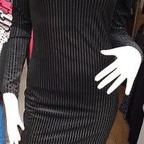 Forever 21 Women's Black Striped With Lining Long Sleeves   Mini Dress 8 Photo