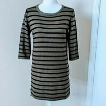 Forever 21 Womens Olive and Black Striped Long Sleeve Sweater Dress Size S Photo