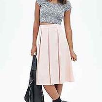 Forever 21 Women's Pleated Woven Midi Skirt Blush (Medium) Photo