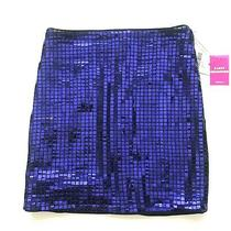 Forever 21 Women's Skirt Blue Size S Party Collection Sequin Mini Nwt Flaw Photo