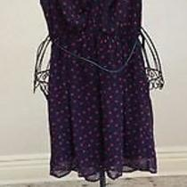 Forever 21 Women's Summer Dress Navy Blue With Red Hearts Size S Photo