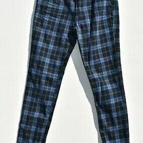 Forever 21 Women Size 29 Jeans Plaid Skinny Checkered Blue Black Photo