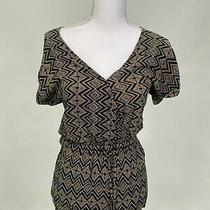 Forever 21 Womens Abstract Geometric Surplice Romper Black Size S Photo