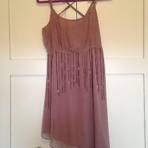 Forever 21 Womens Dress Blush Pink Metal Chain a Symmetrical Med Photo