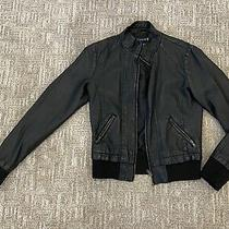 Forever 21 Womens Faux Leather Black Jacket Size S Photo