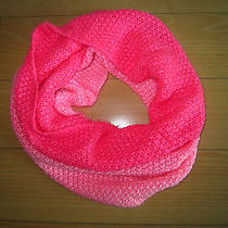 Forever 21 Xx1 Hot Pink Coral Ombre Circle Infinity Cowl Neck Knit Scarf Winter Photo