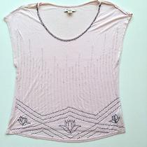Forever 21 Xxi Blush Pink Beaded Loose Top Small Photo