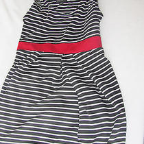 Forever 21 Xxi Plus White Black Tank Dress Striped a-Line Empire Waist Dress 1x Photo