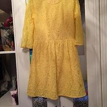 Forever 21 Yellow Lace Mini Dress Bloggers Size M New Photo