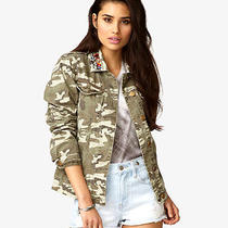 Forever 21h/m Bejeweled Camo Jacket American Apparel Size S Photo