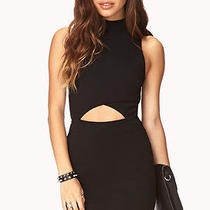 Forever 21h/m Black Clear Cut Bodycon Dress American Apparel Size L Photo
