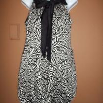 Forever Sm Black/white Sleeveless Slinky Dress Photo