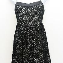Forever21 Black Lace Overlay Baby Doll Dress Size L Large Photo