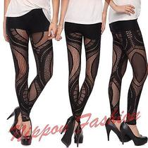 Forever21 Lace Clubwear Cutout Sheer Runway Celebrity Goth Fetish Vogue Leggings Photo