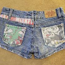 Forever21 Melville Levis Low Rise Acid Wash Print Distress Grunge Hipste Shorts Photo