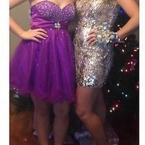 Formal Dress Homecoming Purple Short Dress Size 6 Photo