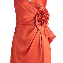 Formal Dress Orange Silk/satin by Max & Cleo U.s Designer Label Photo