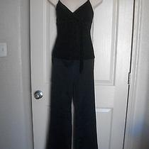 Formal Evening Black Pants Set Top Prom Coctails by Charlotte Russe & Rampage Photo