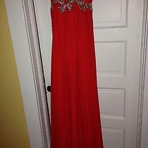 Formal/evening Prom/bridesmaid Dress by Blush Prom in Marashino Red-Size 4 Photo