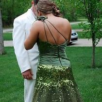 Formal or Prom Dark Green Dress Made by Tiffany Photo