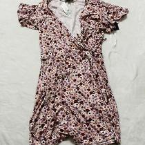 Fortune & Ivy Women's Floral Kegan Faux Wrap Brush Knit Dress Kb8 Blush Size 2xl Photo
