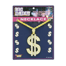 Forum Novelties Inc 20761 Big Dollar Sign Necklace Photo