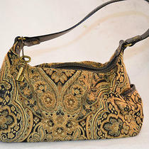 Fossi Satchel Handbag Tapestry Browns Tans With Key Photo