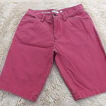 Fossil 100% Cotton Casual Bermuda Chino Shorts Women's Size 30 Photo