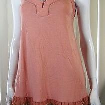 Fossil 100% Fine Quality Pink Spaghetti Straps Top Blouse Size S Small Pink 053 Photo