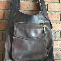 Fossil 1954 American Classic Brown  Pebble Leather Shoulder Bag Purse 75082 Photo