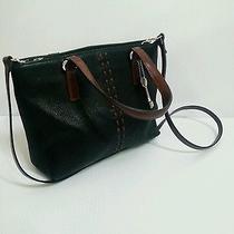Fossil 1954 Black Leather Satchel Shoulder Bag Handbag Purse Tote  Photo
