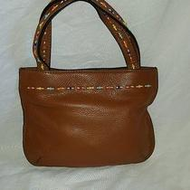 Fossil 1954  Brown Leather W/beading Small Tote Handbag Purse Exc. Condition Photo