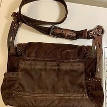 Fossil 1954 Brown Soft Large Leather Shoulder Crossbody Handbag Purse Tote 75082 Photo