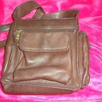 Fossil 1954 Classic 75082 Brown Leather Crossbody Messenger Purse Bag  Photo